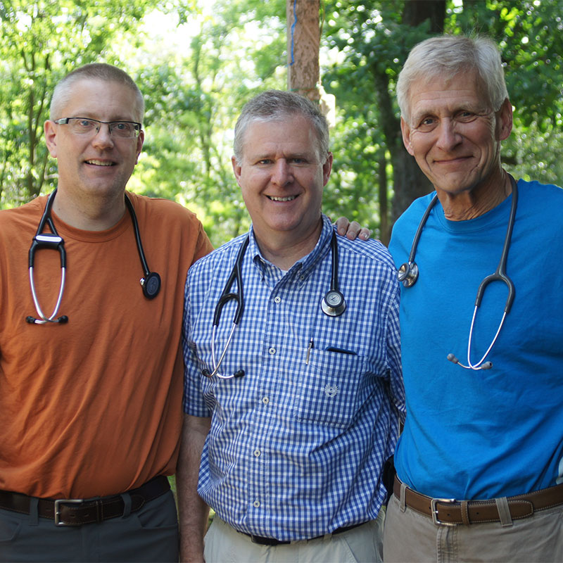 Retired physicians on summer medical mission in Guatemala.