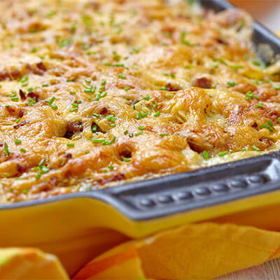 Potato Casserole in casserole dish